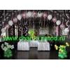 Оформление воздушными шарами.  Свадебная флористика