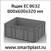 Пластиковый контейнер ящик 800х600х320 мм